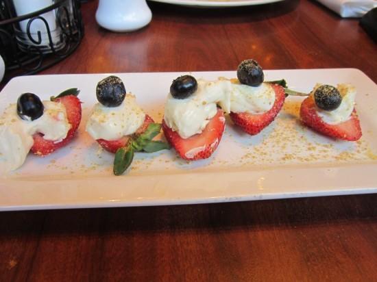 Strawberry cheesecake bites!