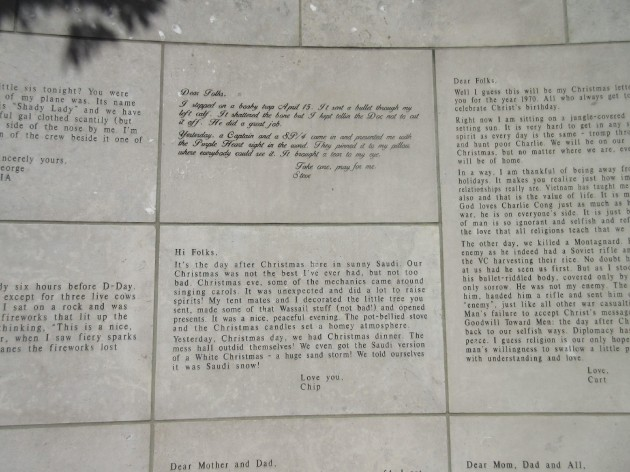 War Memorial Letters.