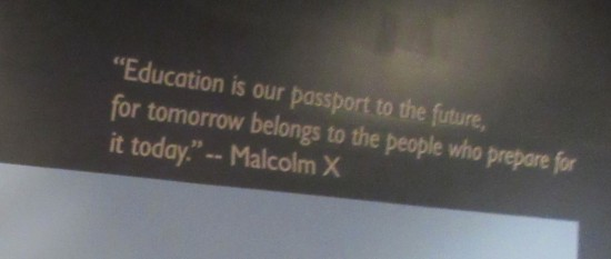 Malcolm X quote!
