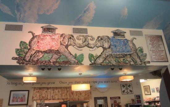 elephant mural!
