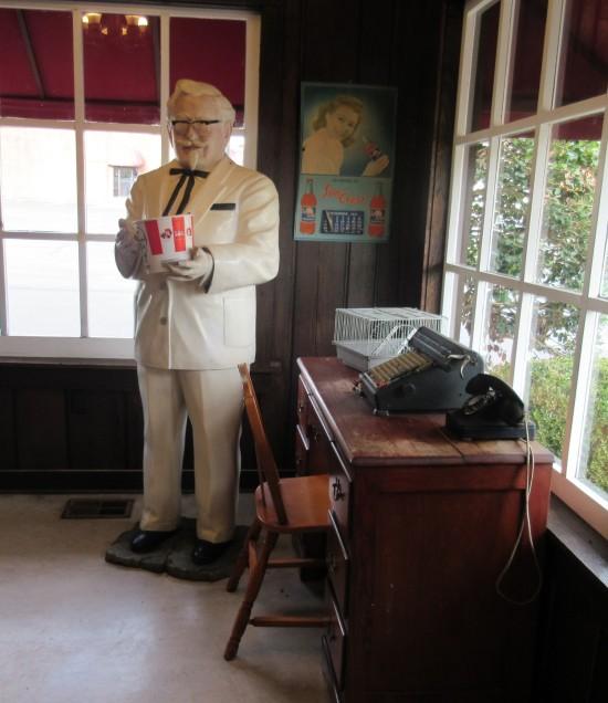 Colonel Sanders statue!