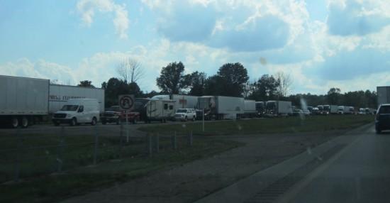 traffic backup!
