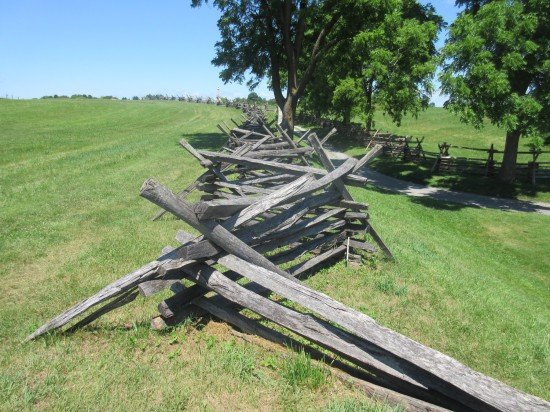 Antietam barricades!