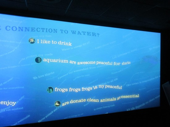 Aquarium messages!