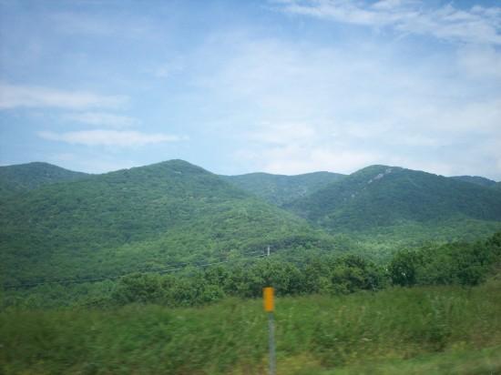 green mountains!