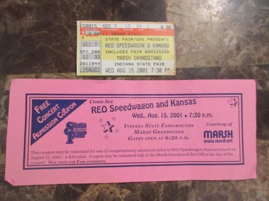 2001-08-15 REO Speedwagon + Kansas!