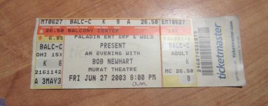 2003-06-27 Bob Newhart!