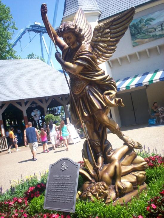 Archangel statue!