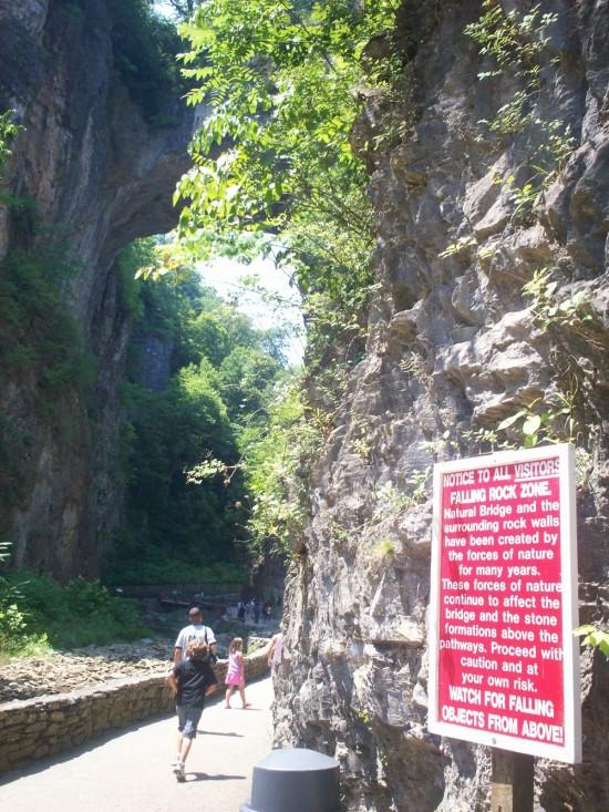 Falling Rock Zone!
