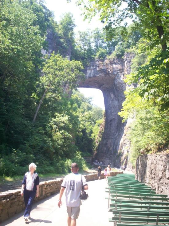 Natural Bridge benches!