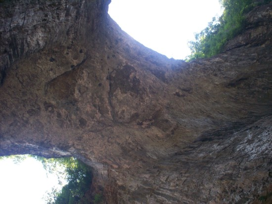 Natural Bridge Underside!
