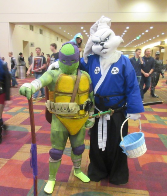 Donatello and Usagi Yojimbo!