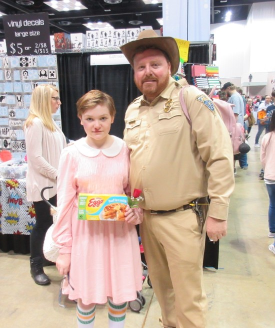 Eleven and Chief Hopper!