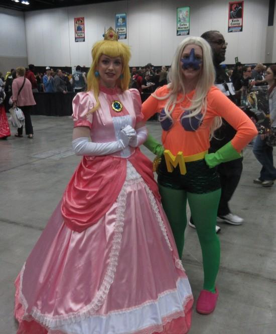 Princess Peach and Mermaid Man!