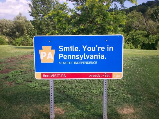 Smile in Pennsylvania!
