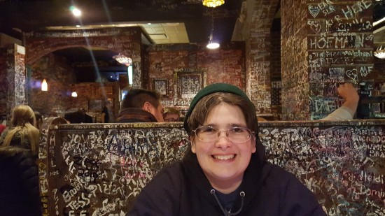 Anne at Geno's!