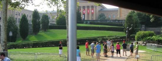 Art Museum + Rocky!