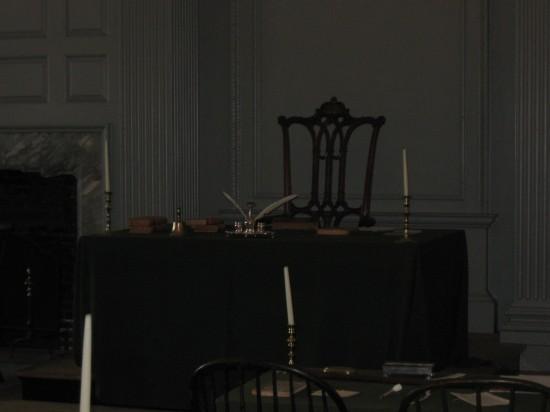 George Washington's chair!