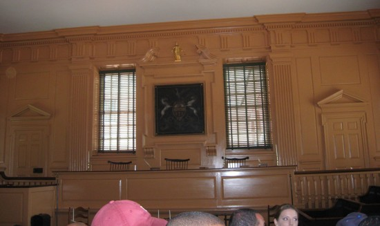 Declaration of Independence courtroom!