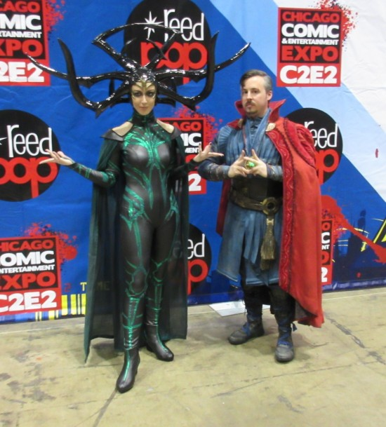 Hela and Dr. Strange!