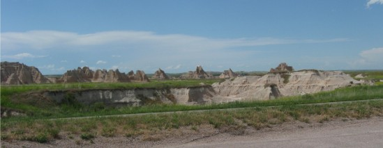 Badlands mountain range!