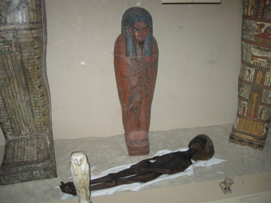 mummy + sarcophagus!