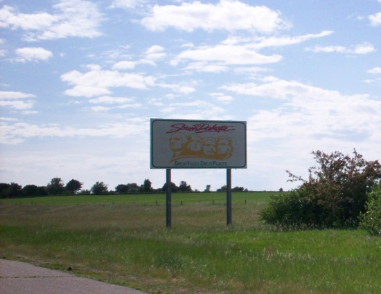 South Dakota sign!