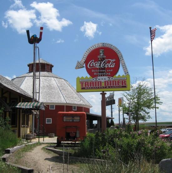 Train Diner sign.