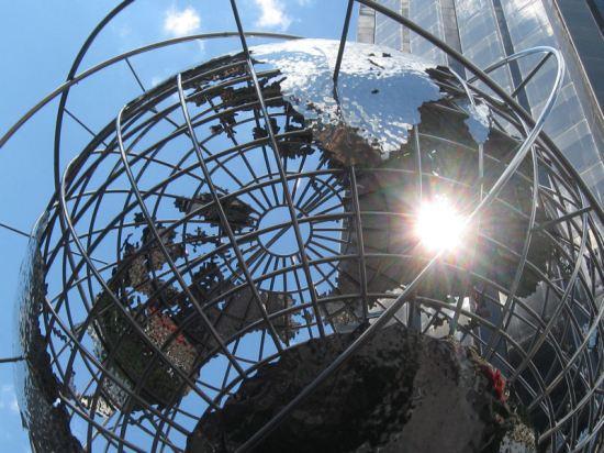 Columbus Circle globe!