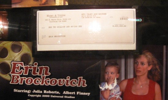 Erin Brockovich check!