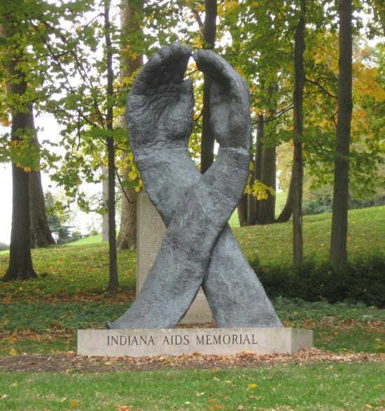 Indiana AIDS Memorial.