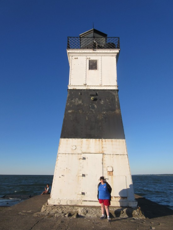 Anne and lighthouse!