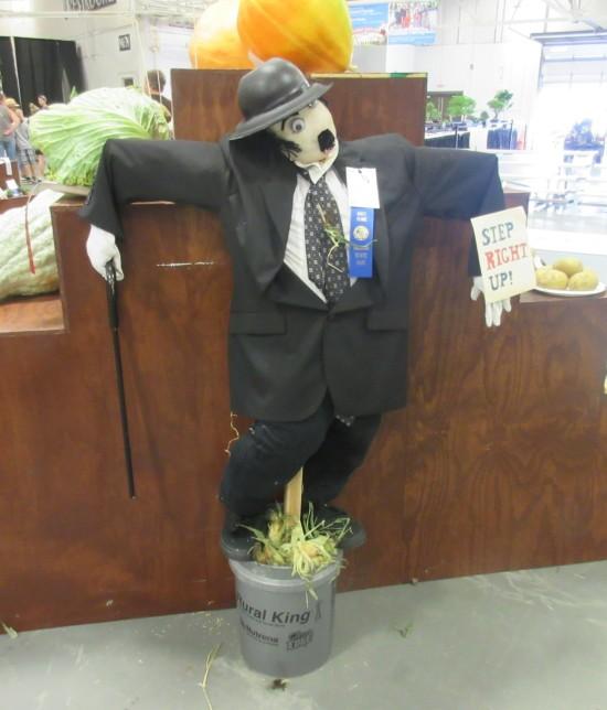 Charlie Chaplin scarecrow!
