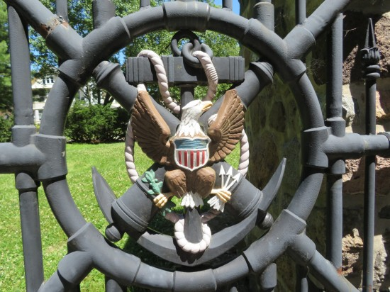 front gate eagle!