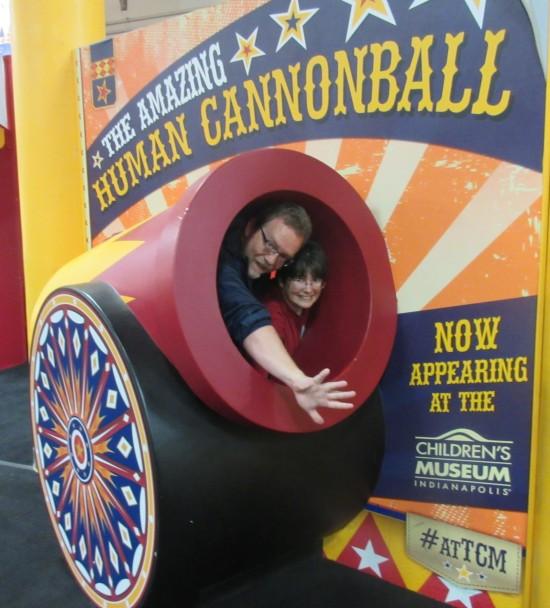 human cannonballs!