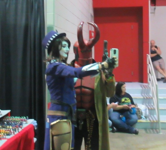 Mad Moxxi and Hellboy!