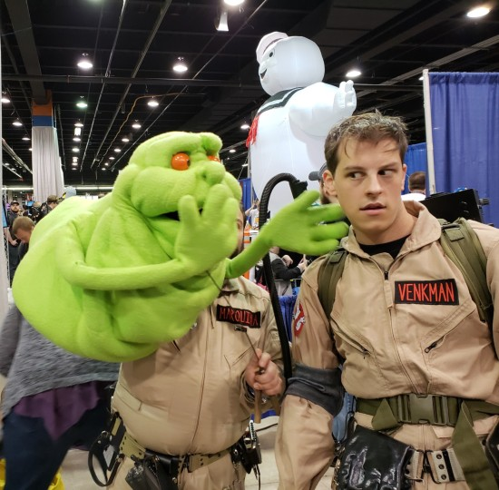 Slimer and victim!