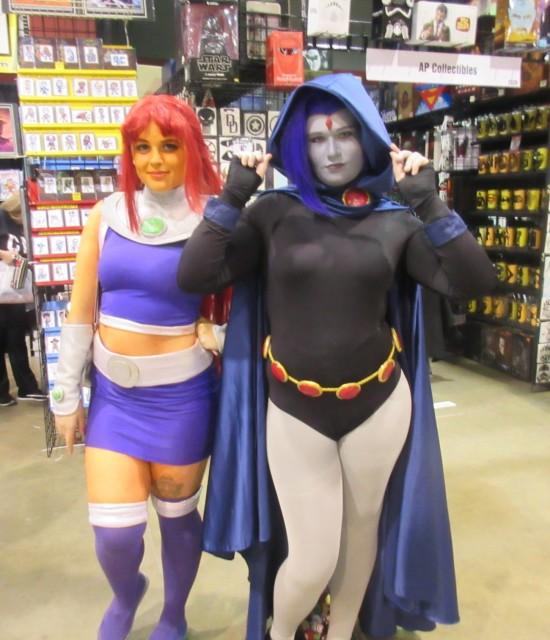Starfire and Raven!