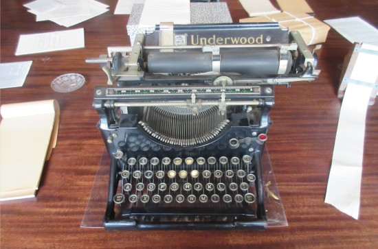 SBA typewriter!