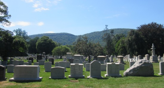 cemetery and mountains!