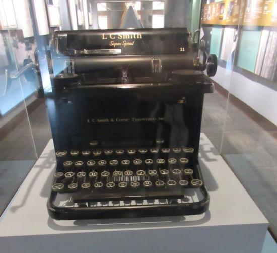 Eleanor's typewriter!
