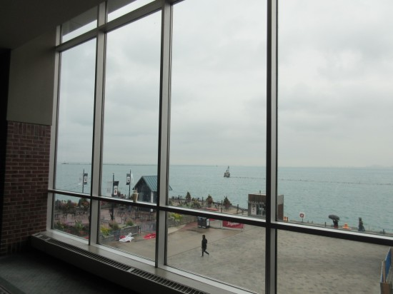 Lake Michigan from inside!