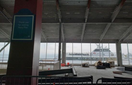 Navy Pier line view!