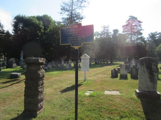 Van Buren gravesite marker!