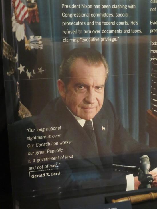 Nixon peering!