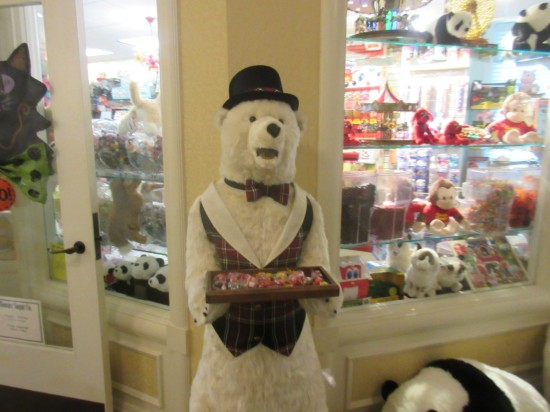 polar bear with candy!