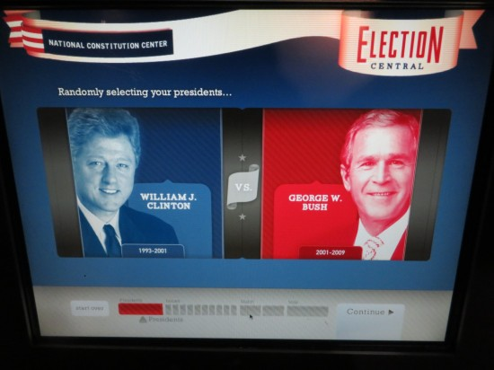voting booth screen!