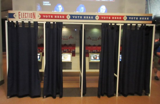 voting booths!