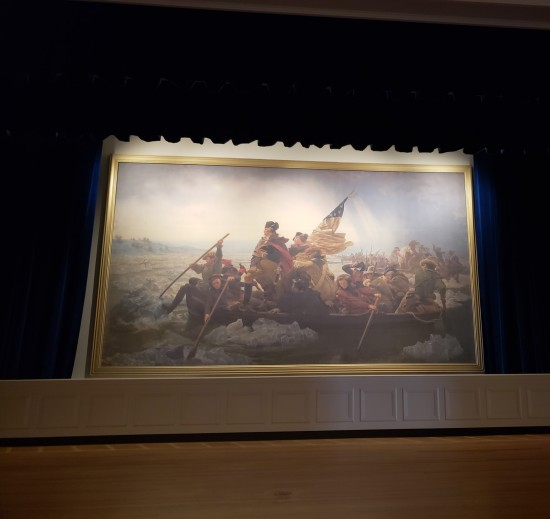Washington Crossing the Delaware painting!
