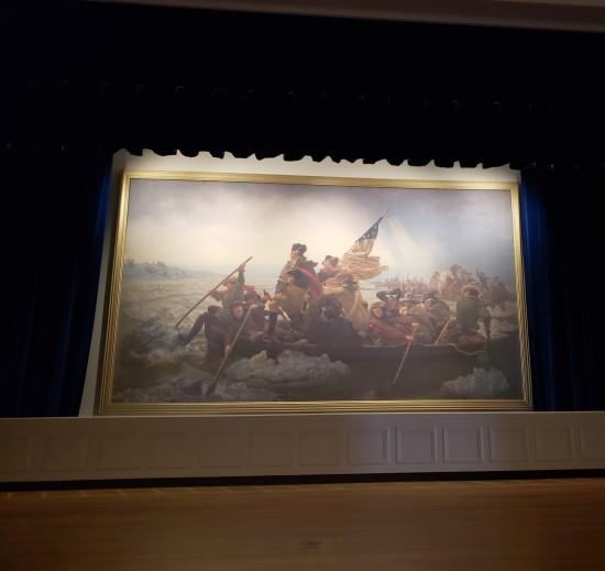 Washington Crossing the Delaware painting!